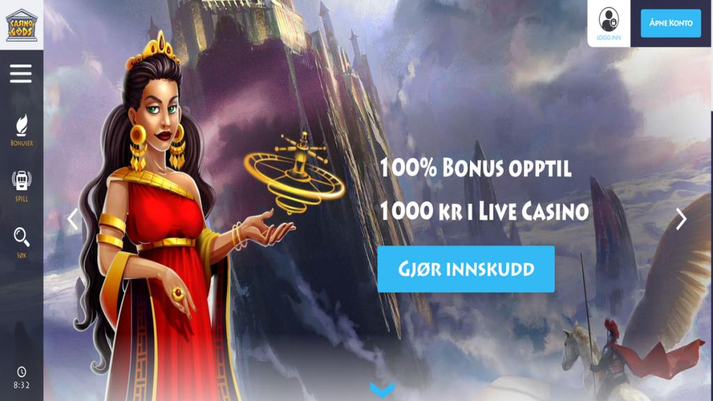 Casino Gods live casino omtale erfaring svindel juks